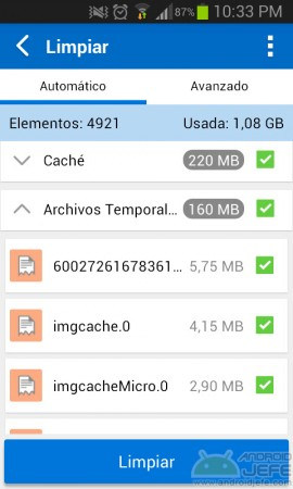 sauberes Android in einer Toolbox